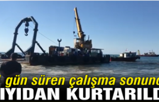 300 tonluk duba 11 gün sonra kurtarıldı