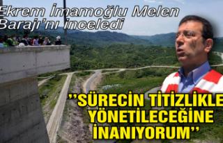 Ekrem İmamoğlu Melen Barajı'nı inceledi,...