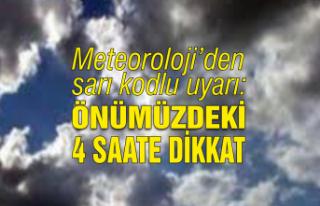 Meteoroloji'den sarı kodlu uyarı: Önümüzdeki...