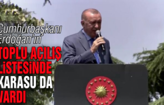 Cumhurbaşkanı Erdoğan'ın listesinde Karasu...