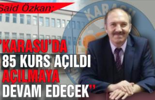 HEM Müdürü Özkan; 'Karasu'da 85 kurs açıldı,...