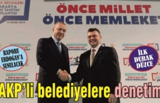 AKP'li belediyelere denetim