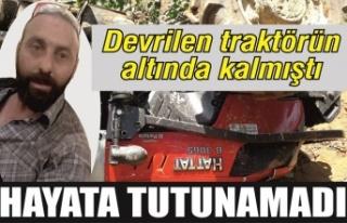 Devrilen traktörün altında kalmıştı… Osman...