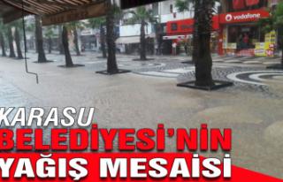 Karasu Belediyesi'nin yağış mesaisi