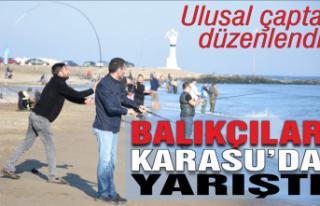 Balıkçılar Karasu'da yarıştı