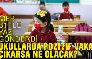 MEB 81 ile yazı gönderdi: Okullarda pozitif vaka...