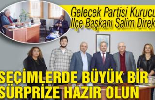 Gelecek Partisi Kurucu İlçe Başkanı Salim Direk:...