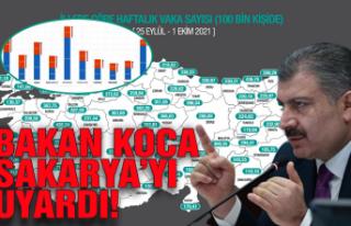 Sağlık Bakanı Sakarya'yı uyardı!