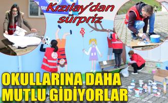 Kızılay'dan öğrencilere sürpriz