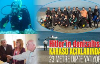 Kayıp denizaltı Karasu açıklarında 23 metre dipte yatıyor