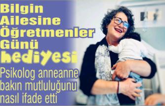 Psikolog anneanne bakın mutluluğunu nasıl ifade etti