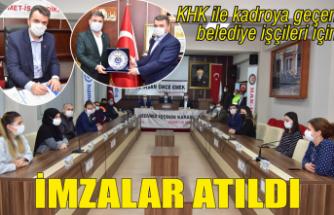 Karasu Belediyesi'nde toplu iş sözleşmesi için imzalar atıldı