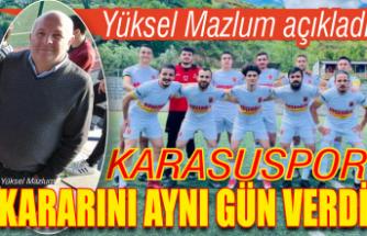 Karasuspor Türkiye'de 266 takımın düşündüğü kararı verdi!