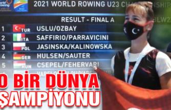 O artık dünya şampiyonu