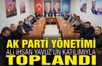Ak Parti Milletvekili Ali İhsan Yavuz ve İl Başkanı Yunus Tever Karasu'daydı